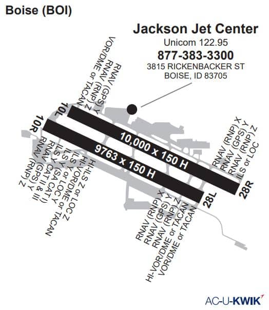 Jackson Jet Center AC-U-KWIK Map