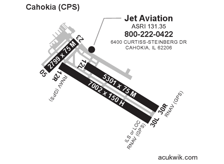 Jet Aviation – St. Louis AC-U-KWIK Map