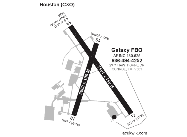 Galaxy FBO AC-U-KWIK Map