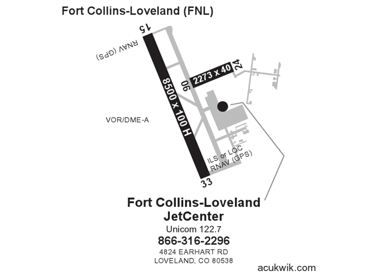 Fort Collins-Loveland jetCenter Acukwick Map