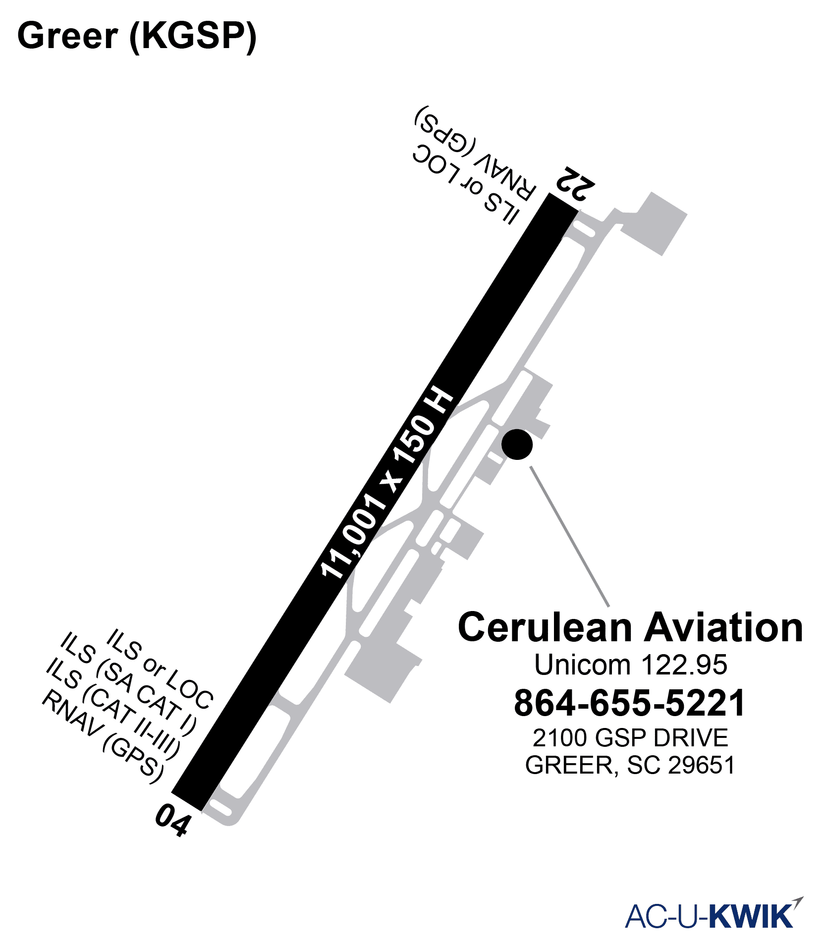 Cerulean Aviation AC-U-KWIK Map