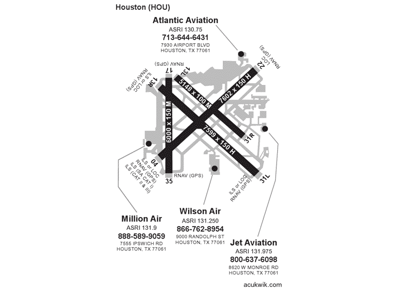 Jet Aviation – Houston AC-U-KWIK Map
