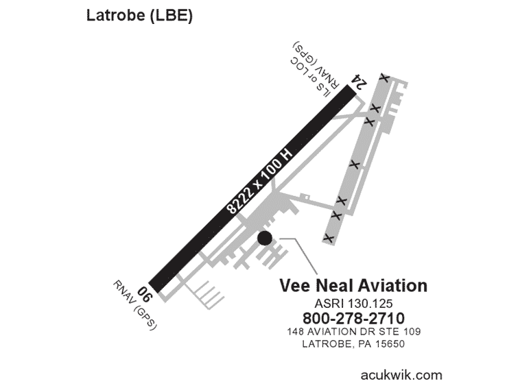 Vee Neal Aviation Acukwick Map