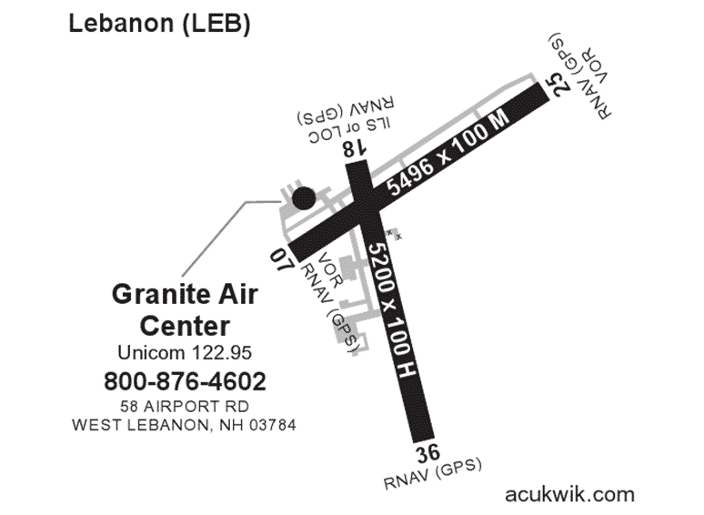 Granite Air Center AC-U-KWIK Map
