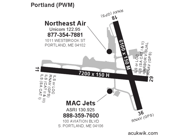 Northeast Air Acukwick Map