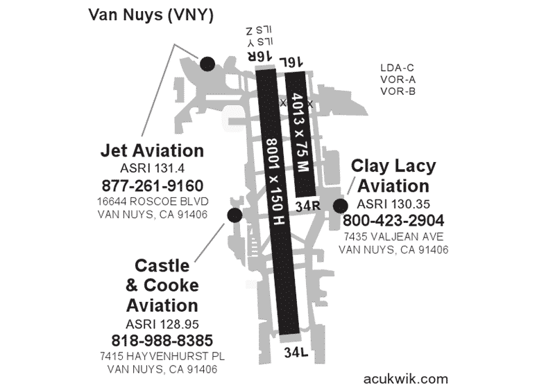 Clay Lacy Aviation – Van Nuys AC-U-KWIK Map