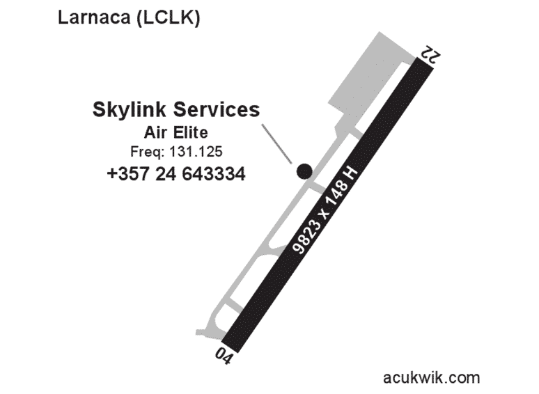 Skylink Services AC-U-KWIK Map