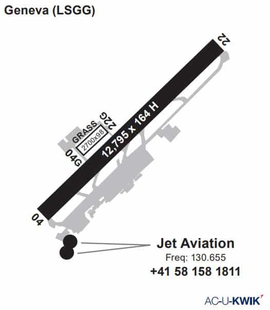 Jet Aviation – Geneva AC-U-KWIK Map