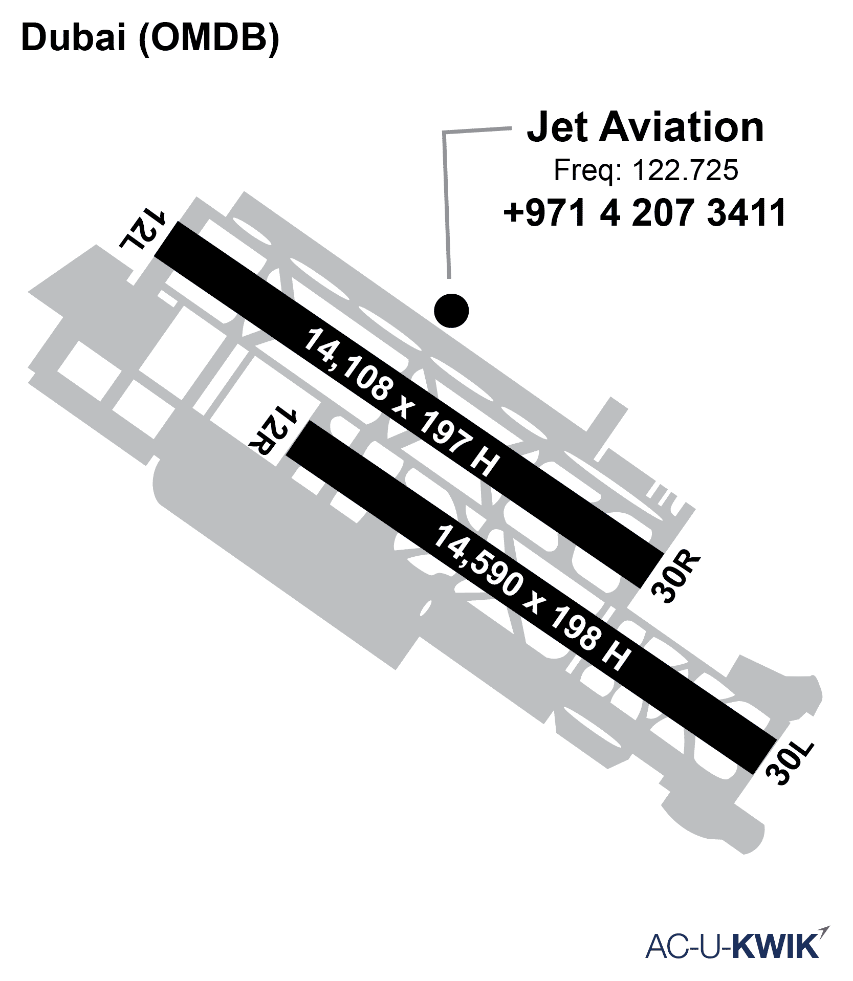 Jet Aviation – Dubai AC-U-KWIK Map