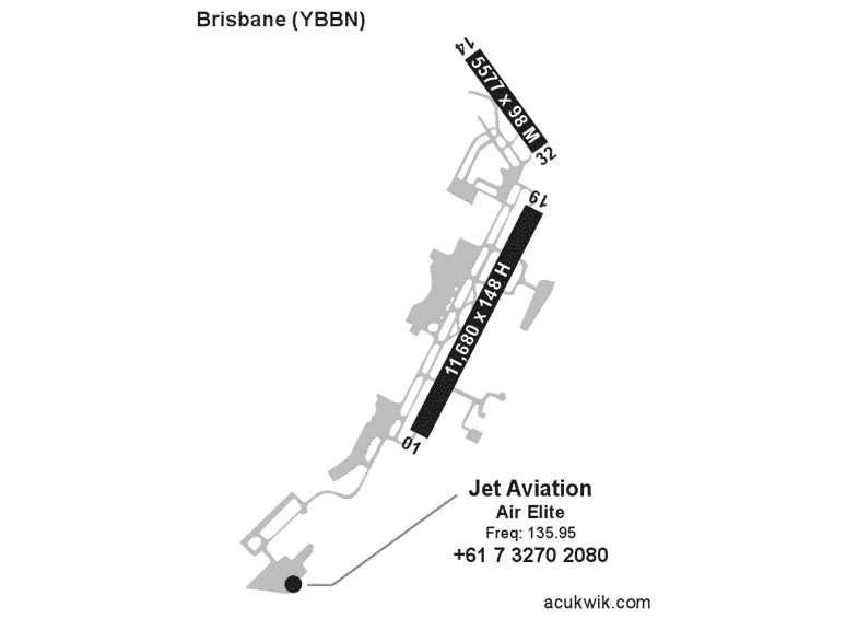 Jet Aviation – Brisbane AC-U-KWIK Map