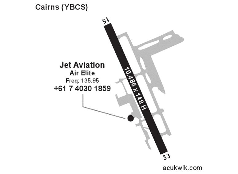 Jet Aviation – Cairns Acukwick Map