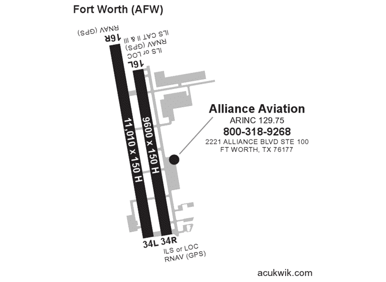 Alliance Aviation Services AC-U-KWIK Map