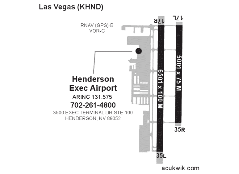 Henderson Executive Airport AC-U-KWIK Map