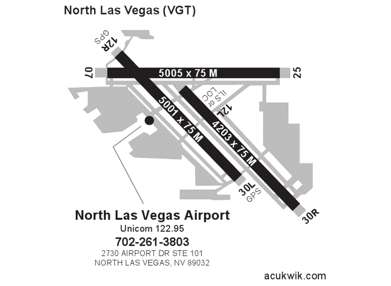 North Las Vegas AC-U-KWIK Map